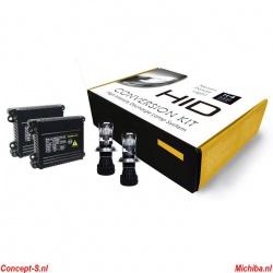 Xenon-HID set H4 BiXenon 8000K 35 Watt 12 Volt Base set NIET voor auto\'s met CAN-bus