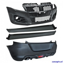Bodykit Sport-look Suzuki Swift FZ-NZ sep 2010-heden zwart ABS zonder DRL
