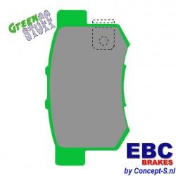 Remblokken set EBC Greenstuff achter Suzuki Swift EZ-MZ 1.6 Sport september 2006-december 2011