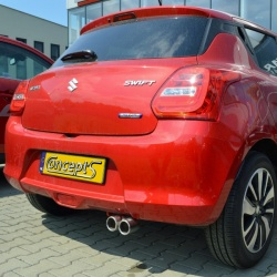 Uitlaatsierstuk 2x70mm Suzuki Swift 04.2017-