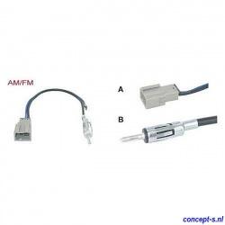 Antenne adapter AM-FM voor Suzuki Swift classic male recht lengte 15 cm