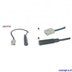 Antenne adapter AM-FM voor Suzuki Swift classic female recht lengte 15 cm