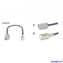 Antenne adapter AM-FM voor Suzuki Swift ISO recht lengte 15 cm