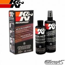 Luchtfilter K-N Schoonmaak set. Spuitfles met 355 ml luchtfilterreiniger en spuitbus met 204 ml luchtfilterolie