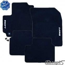Pasklare mattenset Suzuki Swift FZ-NZ sep 2010-heden zwart velours met lichtgrijs stiksel