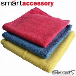 SmartWax SuperTowel -1x Blue 1x Pink 1x Yellow Microfiber poetsdoeken assortiment- 375x375 mm