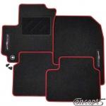 Pasklare mattenset zwart-rood Suzuki Swift EZ-MZ 05.2005-09.2010 ook Swift Sport