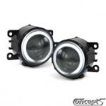 CCFL Angel Eyes Mistlampen set met H3 projector voor diverse Suzuki modellen