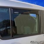 Zijwindschermen zwart achterportieren Suzuki Swift EZ-MZ 5-deurs mei 2005-sep 2010