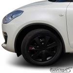 Spatbordranden Small zwart Suzuki Swift AZ 1.0-1.2 04.2017- set a 4 stuks