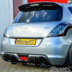 UnderLine diffuser zwart Suzuki Swift NZ 1.6 Sport 01.2012-05.2018