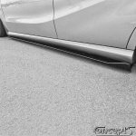 UnderLine sideskirts WING zwart Suzuki Swift Sport NZ 1.6 01.2012-05.2018
