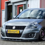 UnderLine frontspoiler WING zwart Suzuki Swift Sport NZ 1.6 01.2012-05.2018