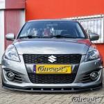 UnderLine frontspoiler WING hoogglans zwart Suzuki Swift Sport NZ 1.6 01.2012-05.2018