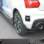 UnderLine rear corners carbon-look Suzuki Swift Sport AZ 1.4 Boosterjet 06.2018-