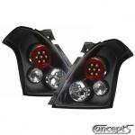 LED Achterlichten set zwart-helder glas-rond Suzuki Swift EZ-MZ mei 2005-sep 2010 ook Sport sep 2006-dec 2011
