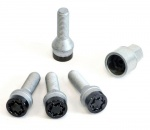 Slotbouten set zwart M12x1.5, draadlengte 22 mm met sleutel