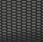 Gaas zwart kunststof 125x25 cm. Open. Ruit ca 30x15 mm
