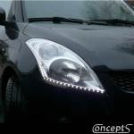 LED Strips WIT 2 x 50 cm zij-schijnend en zelfklevend