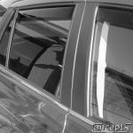 Zijwindschermen zwart achterportieren Suzuki SX4 S-Cross 5-deurs 10.2013-
