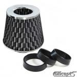 Luchtfilter OpenAir Carbon Style-chroom met adapterringen