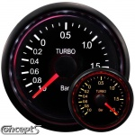 Turbodrukmeter -1.0 tot 2 bar 52 mm 2-color LED