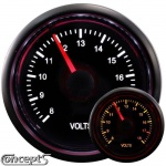 Voltmeter 8-18 Volt 52 mm 2-color LED