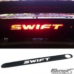 Derde remlicht sticker SWIFT voor origineel of LED remlicht Suzuki Swift mei 2005-