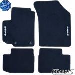 Pasklare mattenset Suzuki Swift EZ-MZ sep 2005-sep 2010 zwart velours met lichtgrijs stiksel