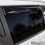 Zijwindschermen zwart achterportieren Suzuki Swift AZ 5-deurs 04.2017-