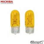 Halogeen autolampen GoldVision Yellow-Geel T10 W5W 5 Watt 3000K 12 Volt - 2 stuks. Made by Michiba