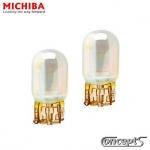 Halogeen knipperlicht lamp T20 oranje met chroom coating 21 Watt 12 Volt