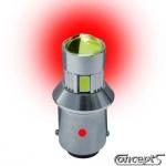 HighPower LED lamp rood 21 Watt 12 volt voor smoke mistlicht per stuk