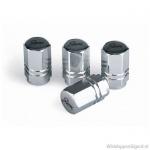 Ventieldopjes RACING 2-Line zilver. Set a 4 stuks