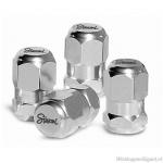 Ventieldopjes RACING 1-Line zilver. Set a 4 stuks